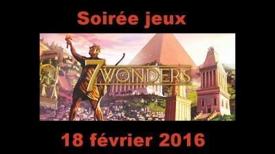 Soirée jeux du jeudi 18 février 2016